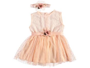 Платье на малышку персиковое 6/12 мес 322230